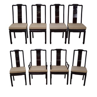 Quality Solid Chinese Rosewood Dining Chairs - 8