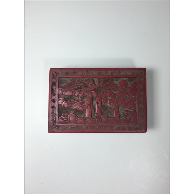 Red Chinoiserie Box - Image 2 of 6