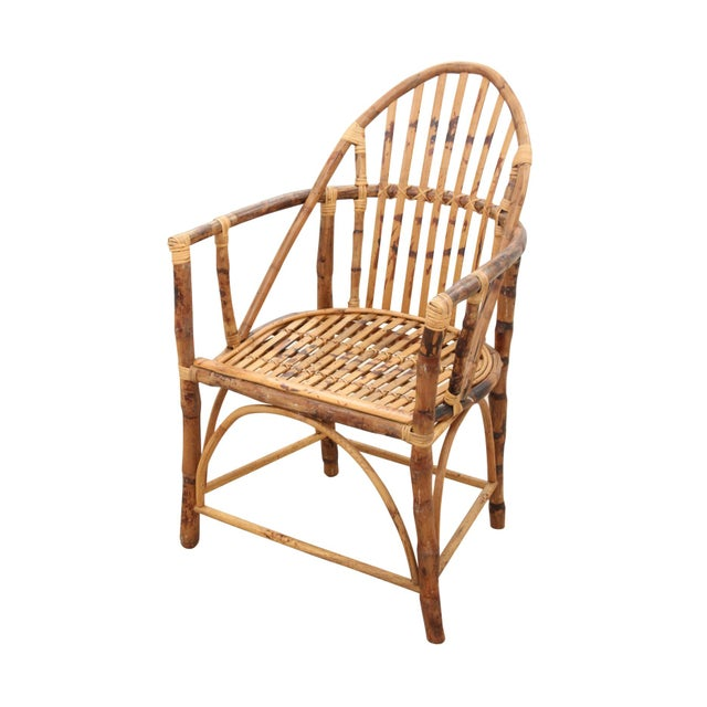 Windsor Style Bamboo Side Chair - Image 2 of 6