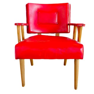 Mid-Century Modern Red Arm Chair