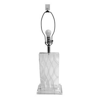 Vintage Van Teal Carved Lucite Table Lamp