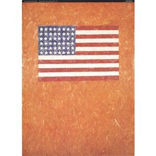 Jasper Johns-Flag On Orange Field-1996 Poster