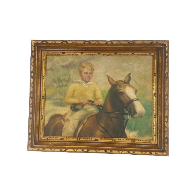 Image of Painting of a Child Riding a Horse