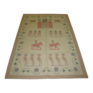 Flat Woven Indian Dhurrie Rug - 4' x 6'