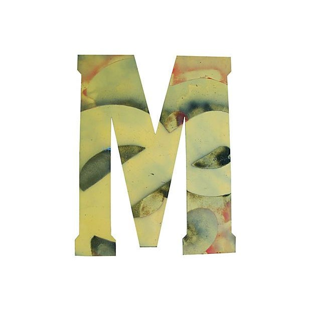 Image of Large Metal Marquee Letter M