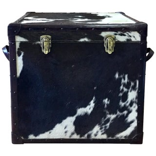 Black and White Square Leather Storage Box