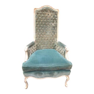 French Provincial Velvet Princess Chair