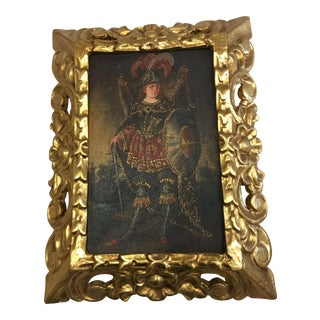 Repro Print on Canvas Gold Frame