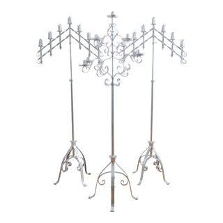 French Altar Floor Candelabras - Set of 3
