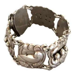 Georg Jensen Large Sterling Silver Dove Bracelet No. 32 by Kristian Mohl-Hansen