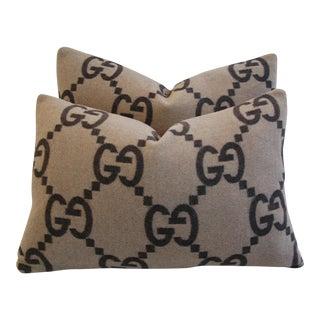 Gucci Cashmere & Velvet Pillows - A Pair