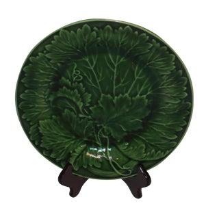 Antique Green Majolica Small Plate