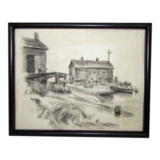 Vintage Lobster Shack Drawing by William Holst