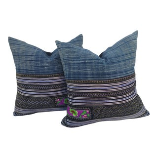 Embroidered Batik Tribal Pillows