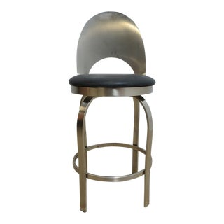 Mid-Century Metal Industrial Stool