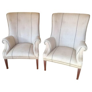 Ralph Lauren Belgian Linen Tub Chairs - A Pair