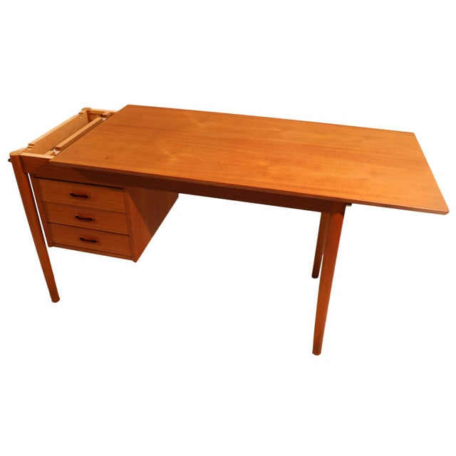 Arne Vodder Mid-Century Danish Teak Drop Leaf Desk - Image 7 of 10