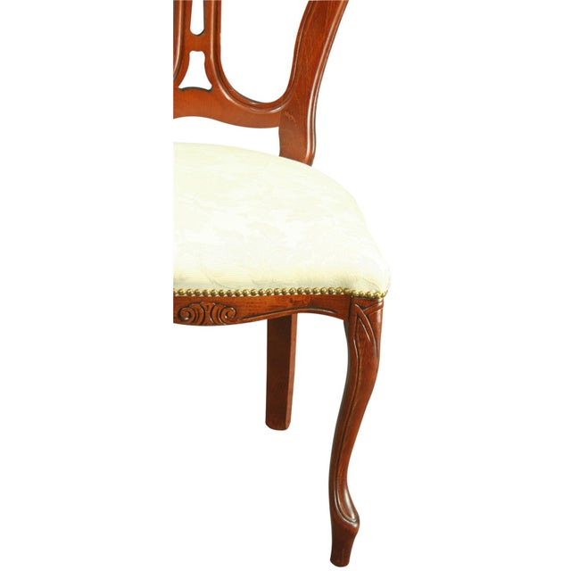 Large, New Italian Mahogany Rococo Dining Chair - Image 7 of 8
