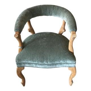 Faux Bois Sage Green Arm Chair