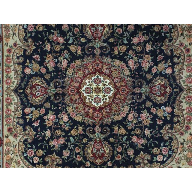 Square Sino Persian Carpet - 8′ × 8′1″ - Image 5 of 8