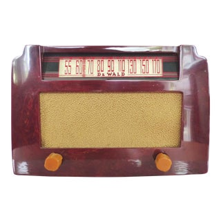 DeWald Art Deco Catalin Red Radio