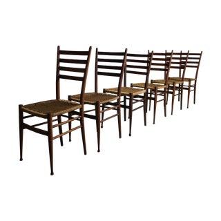Gio Ponti Italian Modern Dining Chairs - Set of 6