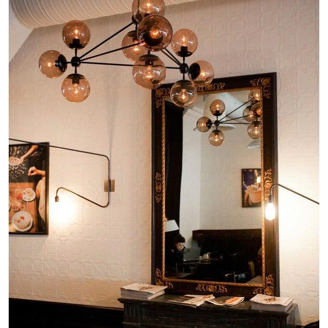 Image of 3 Sided, 10 Globe Modo Chandelier