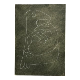 Vintage Bird Drawing