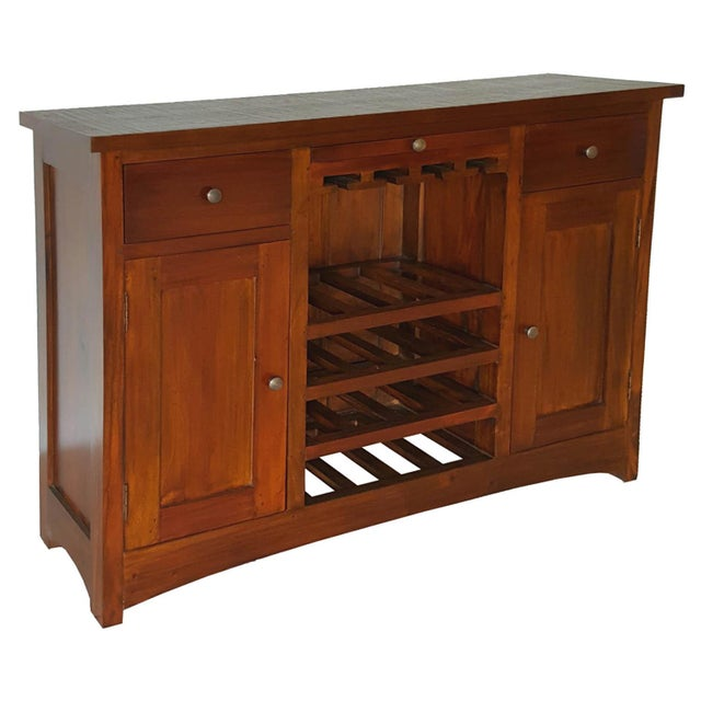 Mahogany Wood Bar Chest - Image 2 of 6