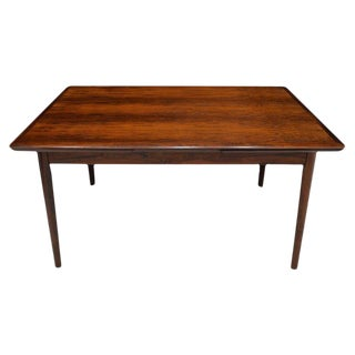 Danish Modern Rosewood Draw Leaf Dining Table