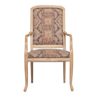 Cerused White Oak Armchairs - Set of 4