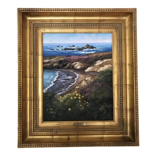 """Tricia Witty """"Harbor Seal Rocks - Point Lobos"""" Oil on Canvas"""