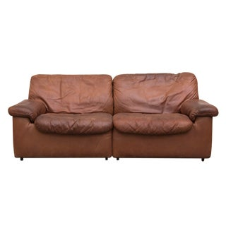 De Sede Cognac Leather Small Sofa