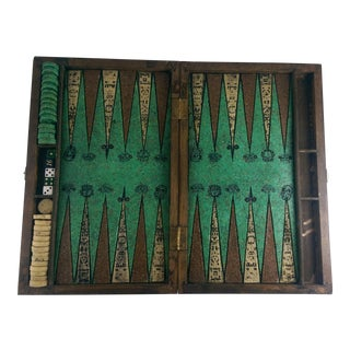 Vintage Aztec Mayan Backgammon Set