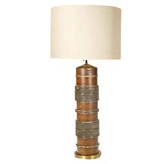 Vintage Wallpaper Roller Table Lamp
