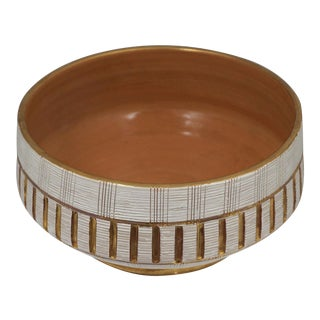 "Vintage Italian Bitossi ""Seta"" Pottery Bowl"