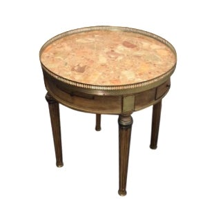Neoclassical Style Marble Top Side Table