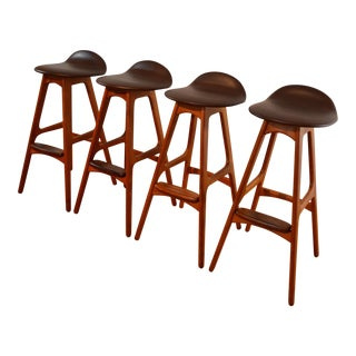 Eric Buch Teak and Rosewood Bar Stools - Set of 4