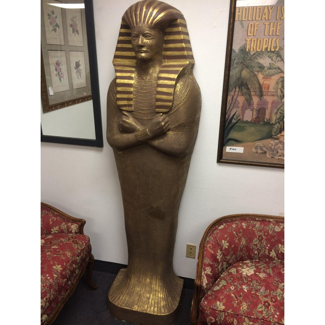 "6'3"" Cast Egyptian Sarcophagus - Image 3 of 5"