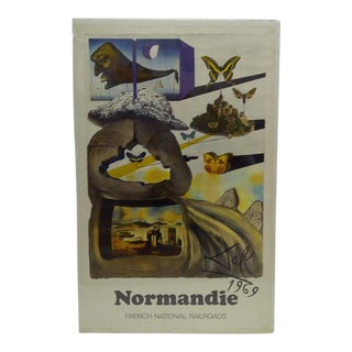 """Vintage Salvador Dali """"Normandie"""" Poster"""