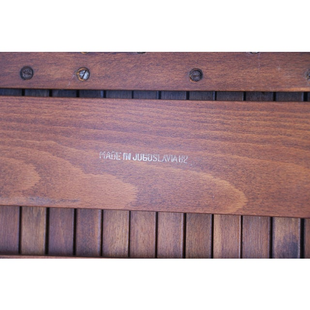 Nelson Herman Miller Style Slatted Wood Bench - Image 4 of 7