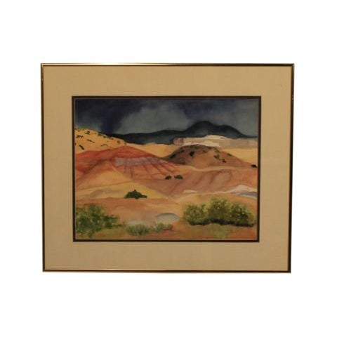"""Watercolor Artwork """"Afternoon Storm in New Mexico"""" - Image 1 of 5"""