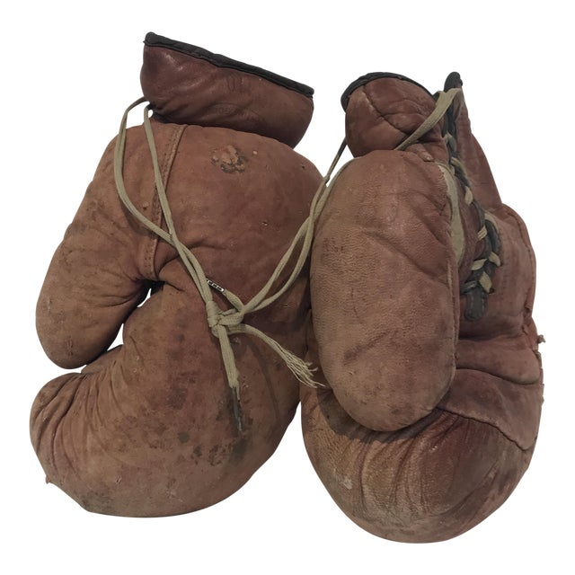 Vintage Leather Boxing Gloves - Image 1 of 5