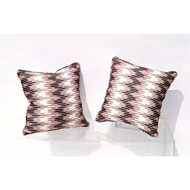 Ikat Pillows in Christopher Farr Cloth - A Pair - Image 2 of 7
