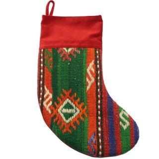Rug & Relic Tannenbaum Kilim Christmas Stocking