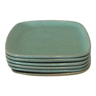 Glidden Matrix Turquoise Salad Plates - Set of 6