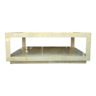Holly Hunt Vintage Goatskin Coffee Table