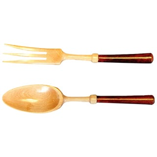 Wooden Salad Fork & Spoon - A Pair