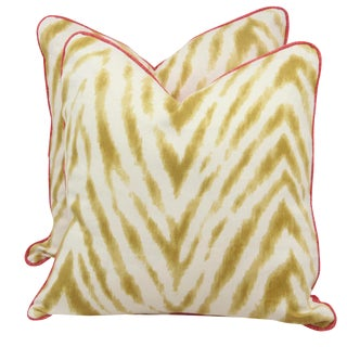 Bula and Raspberry Pillows - A Pair