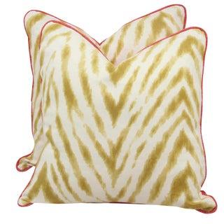 Bula and Raspberry Pillows - A Pair